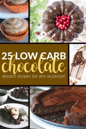 25 Low Carb, Keto & Sugar-Free Chocolate Dessert Recipes