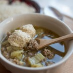 Pork and Kale Soup with Sesame Fat Bombs Recipe
