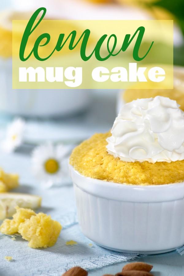 Keto Easy Lemon Mug Cake Recipe | So Nourished