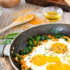 Low Carb Curried Vegetable Skillet with Fried Egg