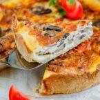 Cheesy Bacon and Mushroom Pie Recipe