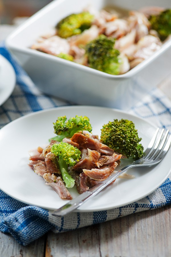 Slow-Cooker Pulled Pork with Broccoli Recipe
