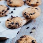Almond Dark Chocolate Chip Cookies Recipe