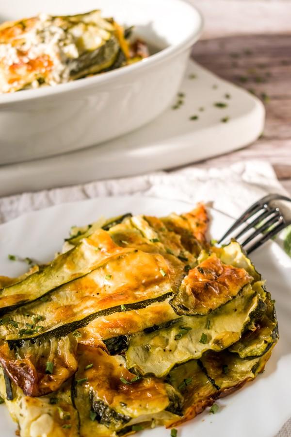 Keto Cheesy Zucchini Gratin