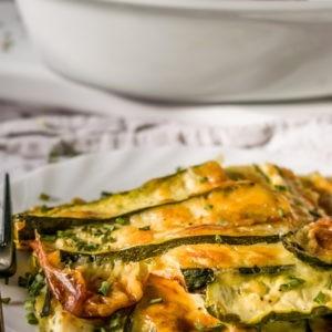 Cheesy Zucchini Gratin Recipe - Low carb, keto friendly zucchini gratin