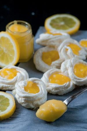 Keto Lemon Meringue Cookies