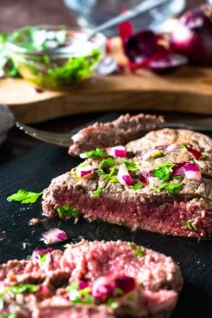 Keto Grilled Flank Steak with Fresh Herbs