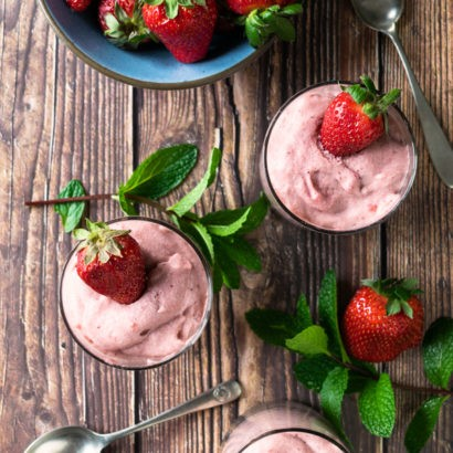 Strawberry Rhubarb Mousse Recipe