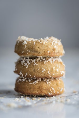 Keto Fried Coconut Donuts