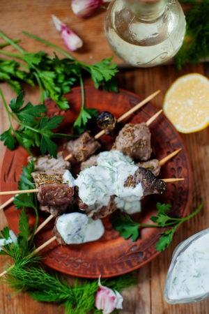 Keto Grilled Mediterranean Kebabs