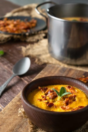 Keto Apple and Butternut Squash Soup