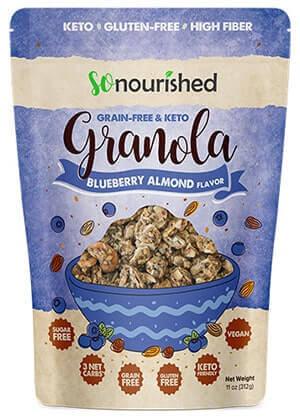 Keto Blueberry Almond Granola