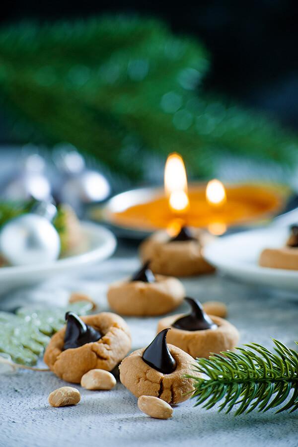 Keto Peanut Butter Blossom Cookies