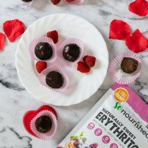 Keto Raspberry Chocolate Truffles